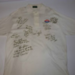 1980s Roman Gabriel signed polo shirt