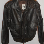 American Express Leather Bomber Jacket