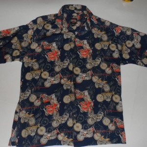 Harley Davidson Motorcycle Hawaiian Shirt