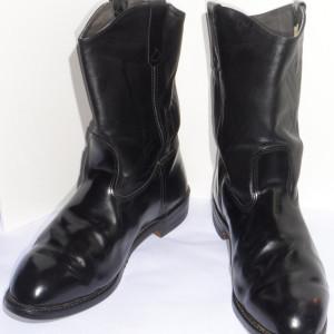 Men's Black Motorcycle Boots