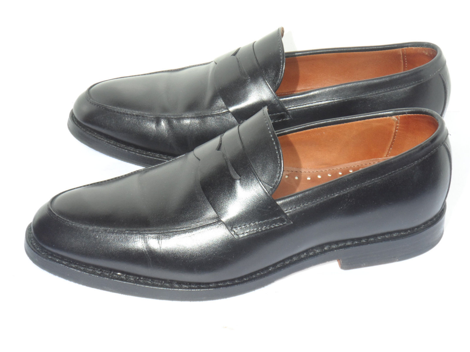 c04bc4d1706 ... Men s Brooks Brothers Black Calfskin Leather Penny Loafers side ...