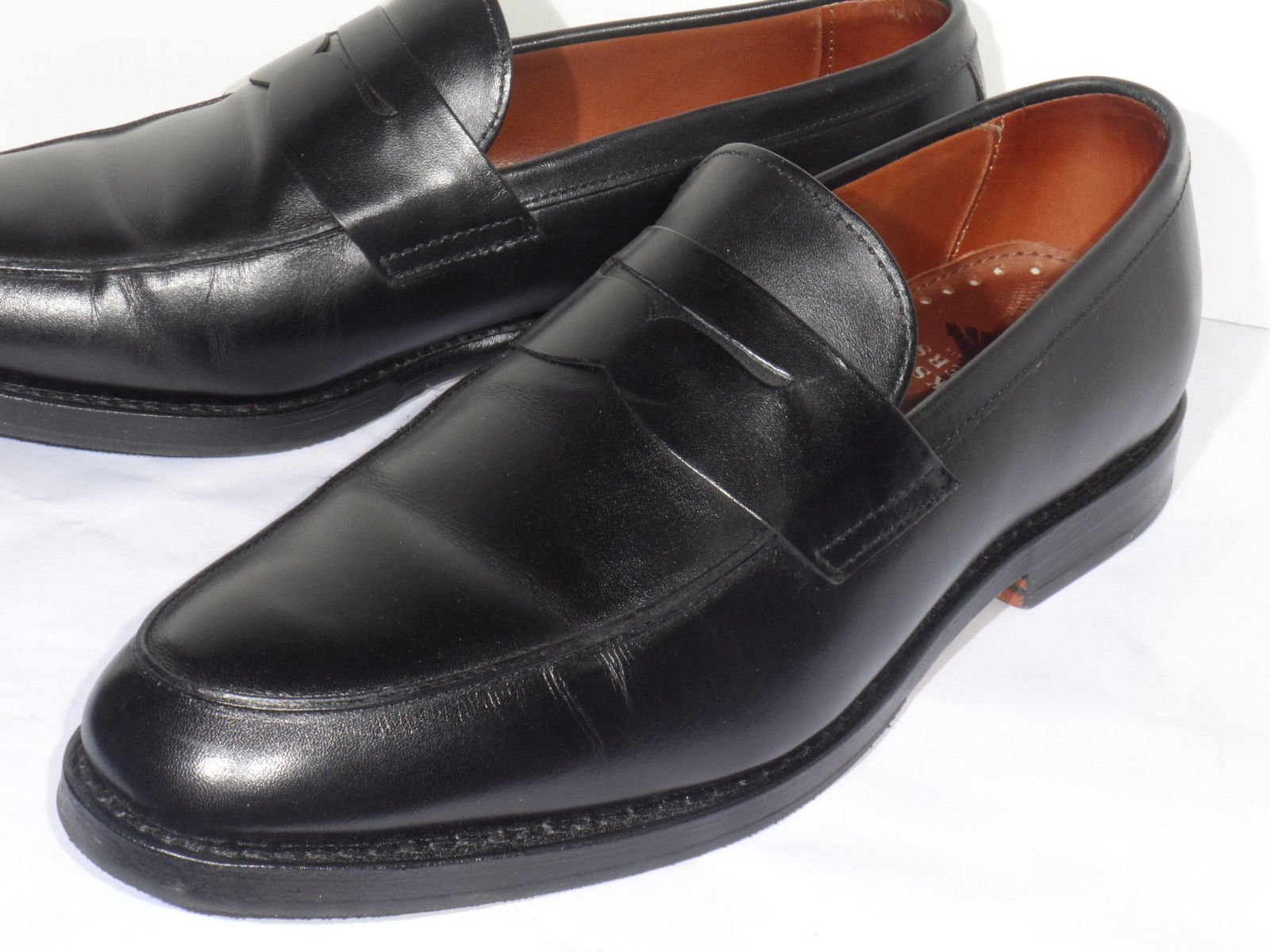 bd6d8aacd06 Men s Brooks Brothers Black Calfskin Leather Penny Loafers