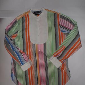 VINTAGE RALPH LAUREN POLO NATHAN MEN'S STRIPED DRESS SHIRT