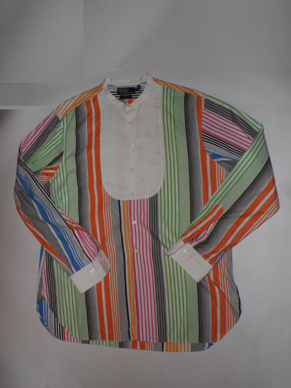 Vintage Ralph Lauren Polo Nathan Mens Striped Dress Shirt