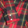 Vintage 1960s Sears Plaid Western Cowboy Shirt sleeve
