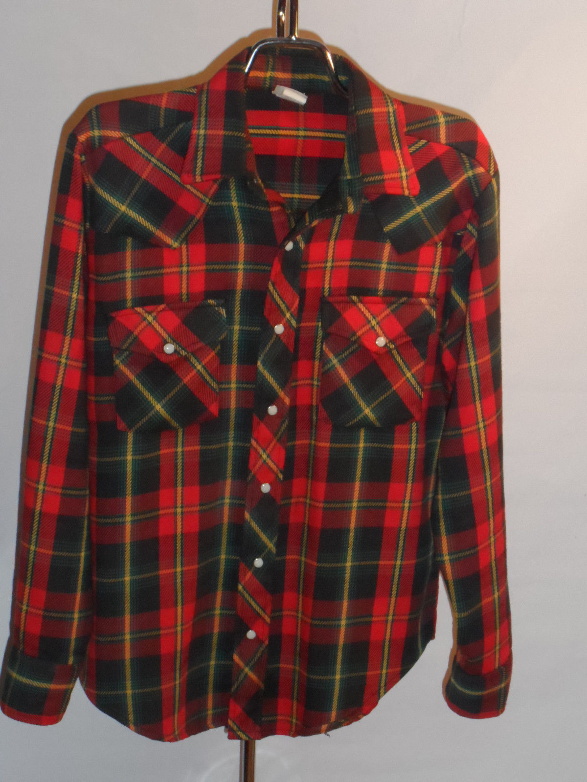 160e3a92 1960s Sears Plaid Cowboy Shirt | Classic Vintage Apparel