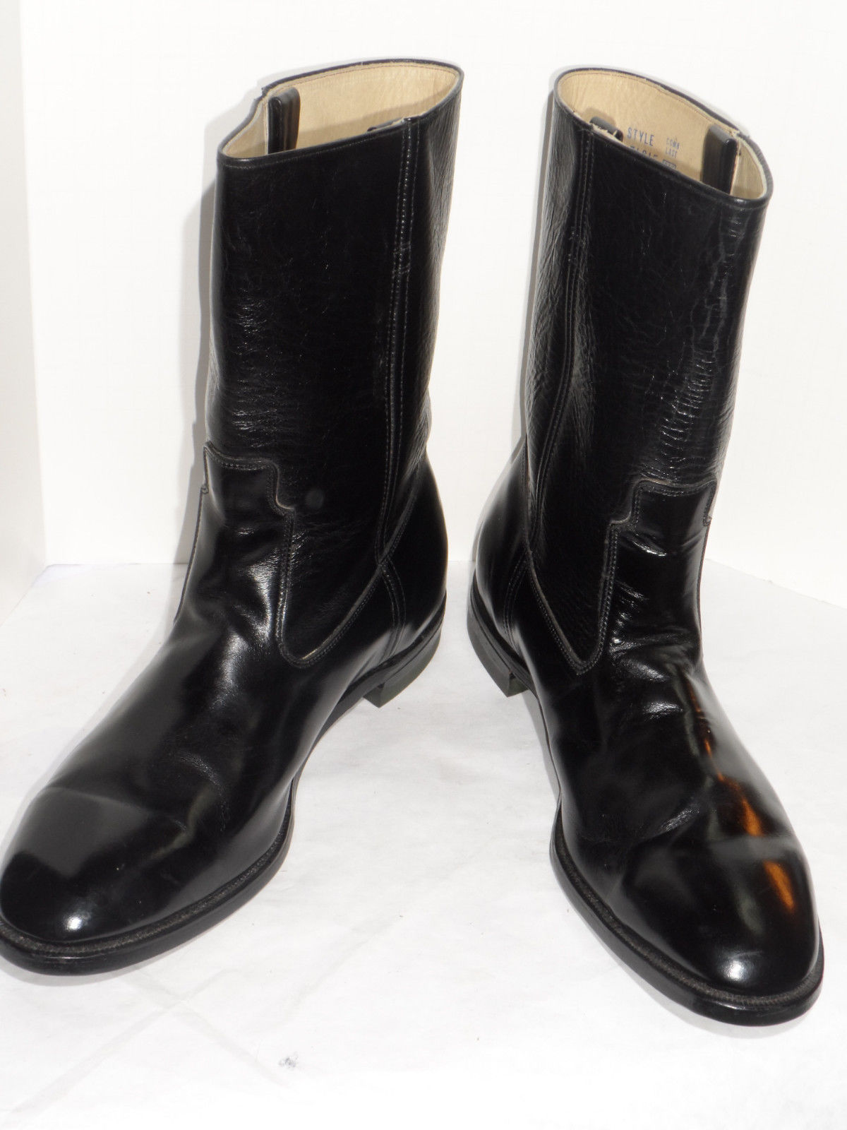 vintage 1970s sears black leather s motorcycle boots