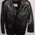Vintage 1970s Sears Black Leather Jacket