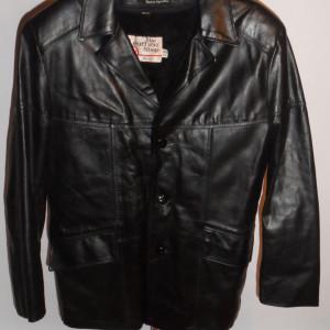 Vintage 1970s Sears Black Leather Jacket