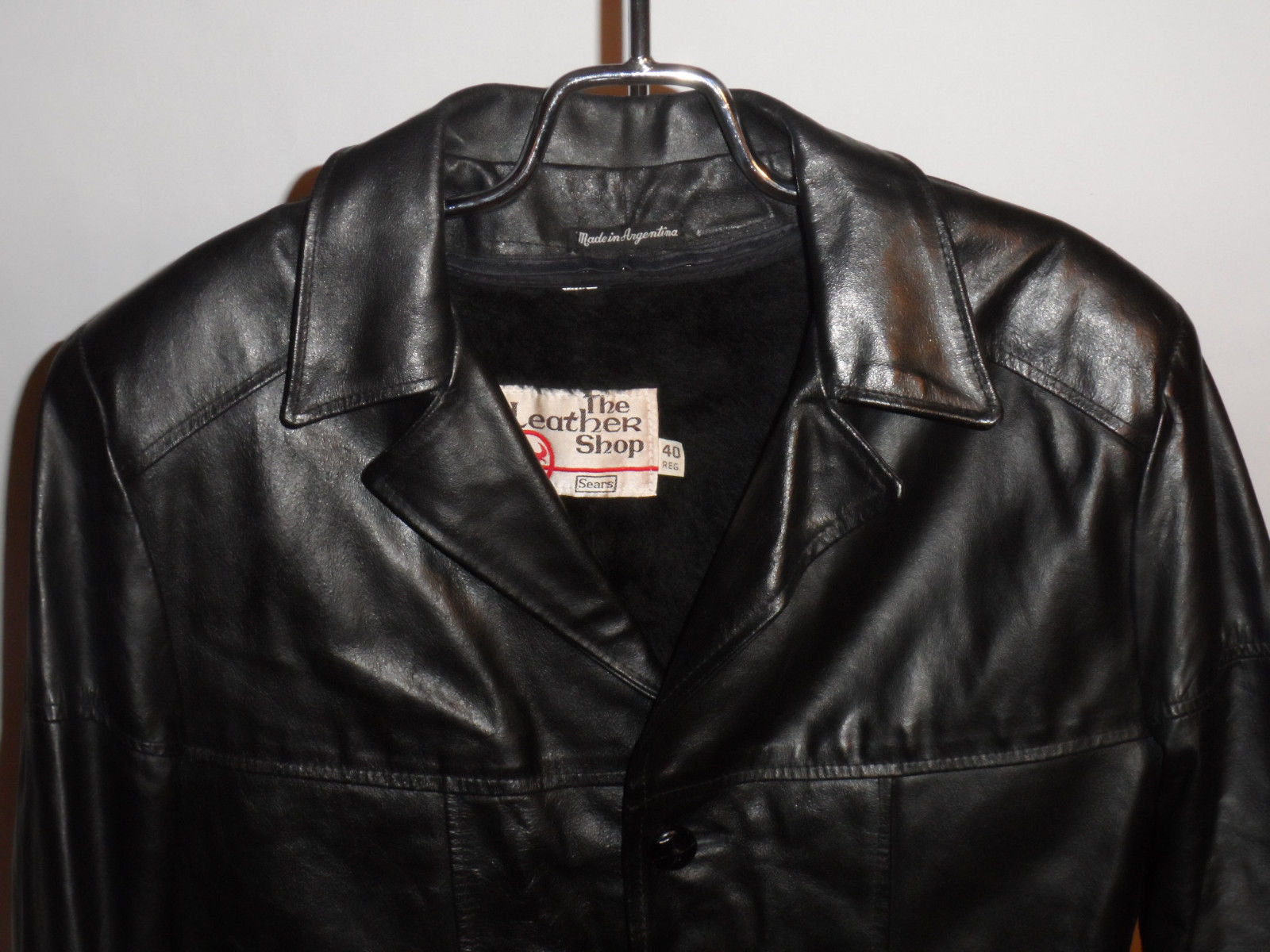 1970s Sears Black Leather Jacket | Classic Vintage Apparel