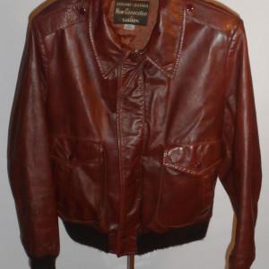 Vintage Grais Leather Bomber Aviator Flyer Jacket