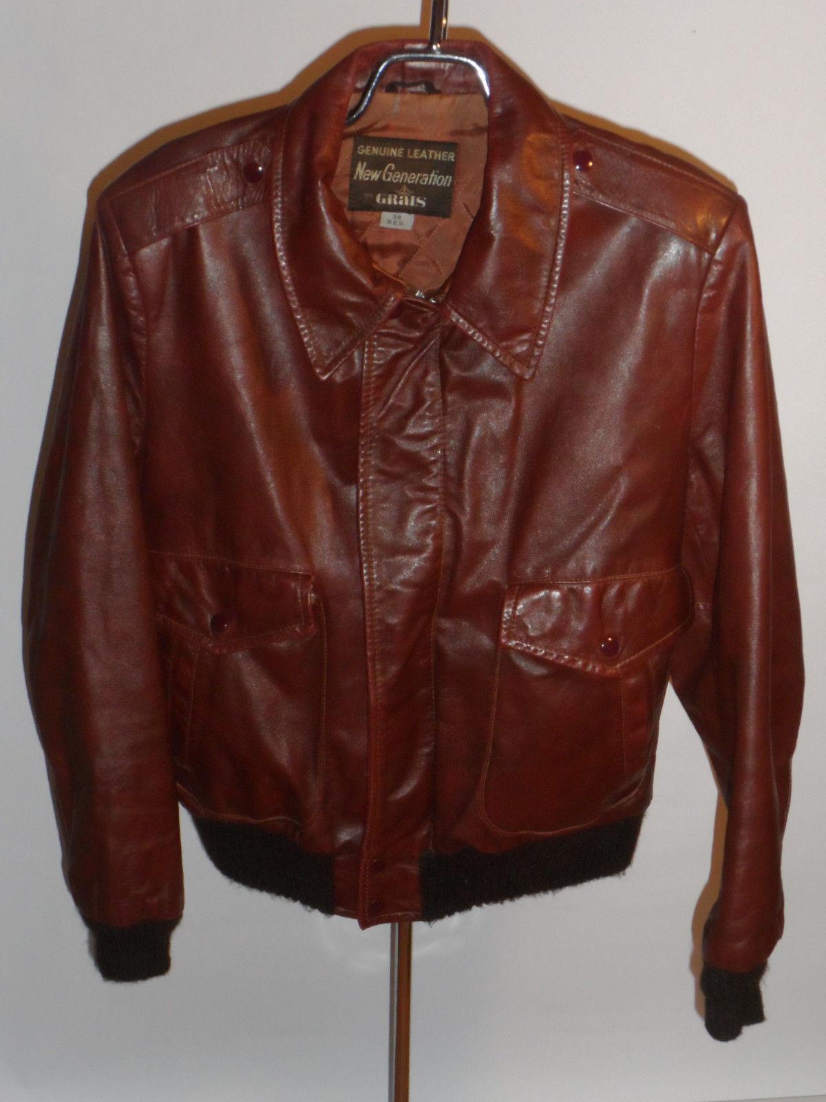 Vintage leather bomber jackets