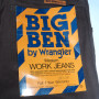 Vintage Men's Wrangler Big Ben Western Work Jeans tags