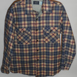 Vintage Sears 1960s - 70s Plaid Work Shirt