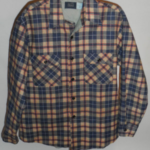 Vintage Sears 1960s - 70s Plaid Work Shirt