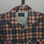 Vintage Sears 1960s - 70s Plaid Work Shirt front close up view