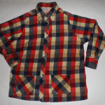 Vintage 1960s Sears Plaid Rockabilly Shirt