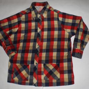 Vintage 1960s Sears Plaid Rockabilly Shirt
