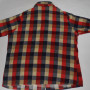 Vintage 1960s Sears Plaid Rockabilly Shirt back view