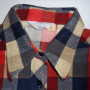 Vintage 1960s Sears Plaid Rockabilly Shirt collar