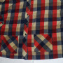 Vintage 1960s Sears Plaid Rockabilly Shirt front close up
