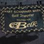 Hart Schaffner Marx Gold Trumpeter Pinstripe Sport Coat tag