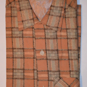 Vintage 1950s Rockabilly Plaid Flannel Shirt