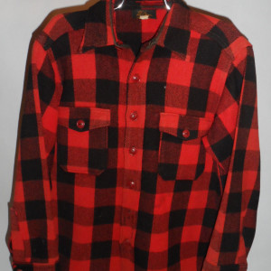 Vintage Mens 1950s LL Bean Plaid Shirt
