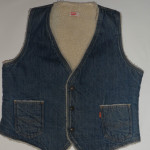Men's Vintage Levi's 1970s - 1980s Denim Sherpa Fleece Vest