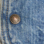 Men's Vintage Levi's 1970s - 1980s Denim Sherpa Fleece Vest button